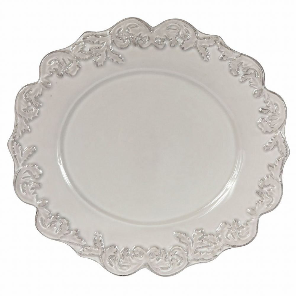 ТАРЕЛКА TRIANON LIGHT GREY PAT.DINNER PLATE 31X29CM COTE TABLE, АРТИКУЛ 26712