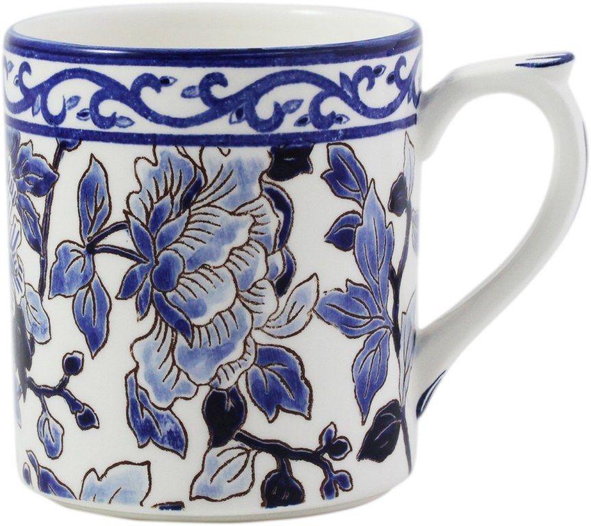 ЧАШКА, GIEN, PIVOINES BLEUES, 255 ml- H 9,5 cm