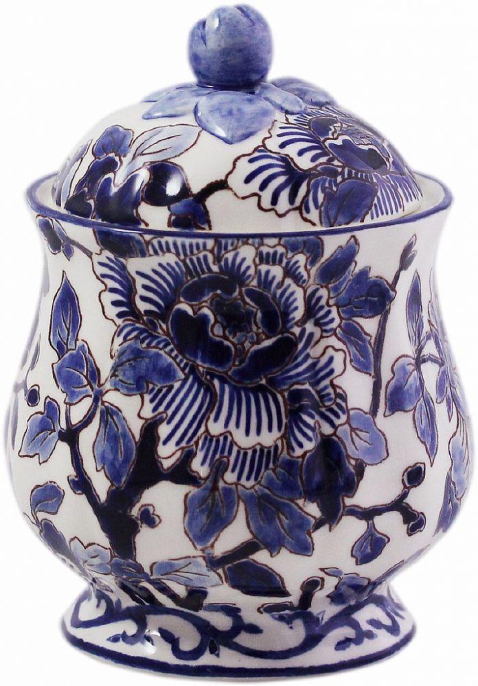 САХАРНИЦА, GIEN, PIVOINES BLEUES, 30 cl - H 13 cm