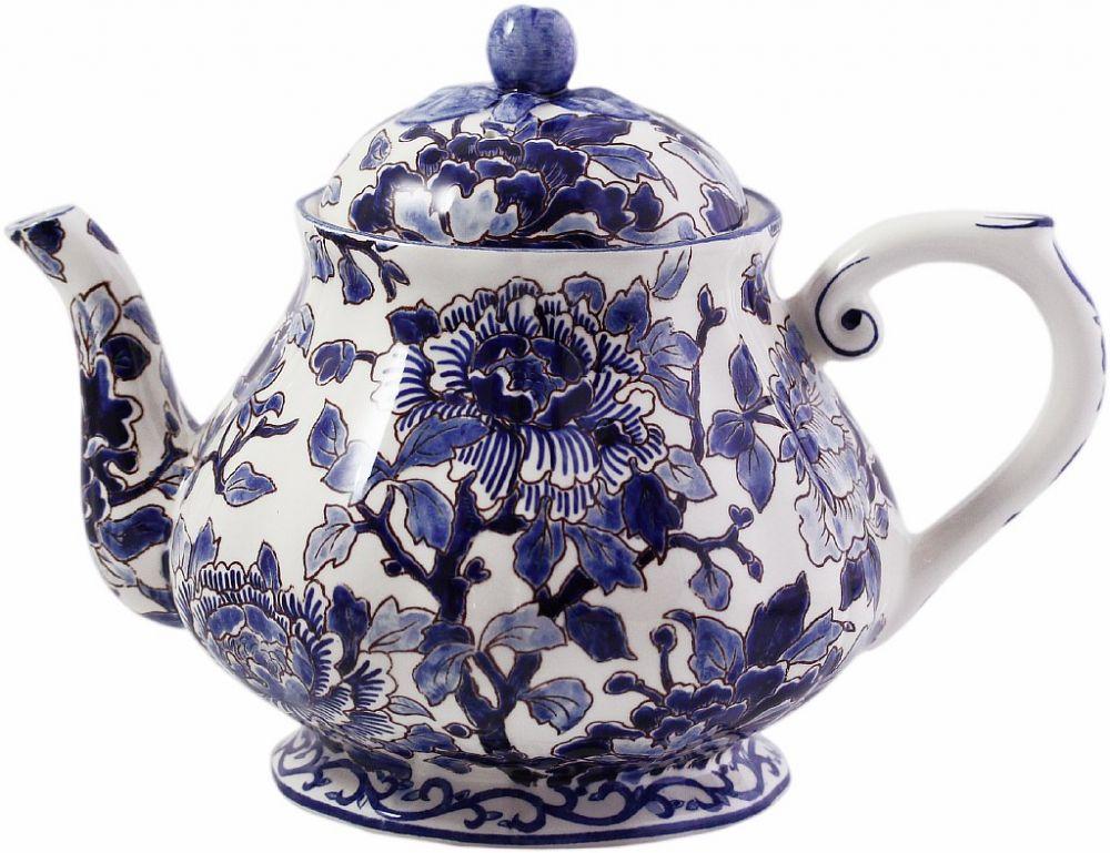 ЧАЙНИК, GIEN, PIVOINES BLEUES, 1,1 L - H 17 cm