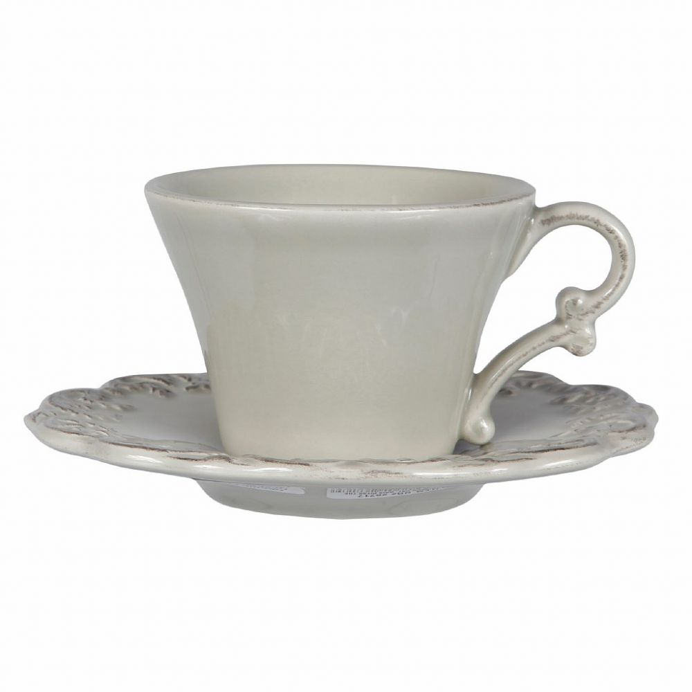 ПАРА ДЛЯ ЧАЯ TRIANON LIGHT GREY PAT.TEA CUP &SAUCER 22CL COTE TABLE, АРТИКУЛ 26717