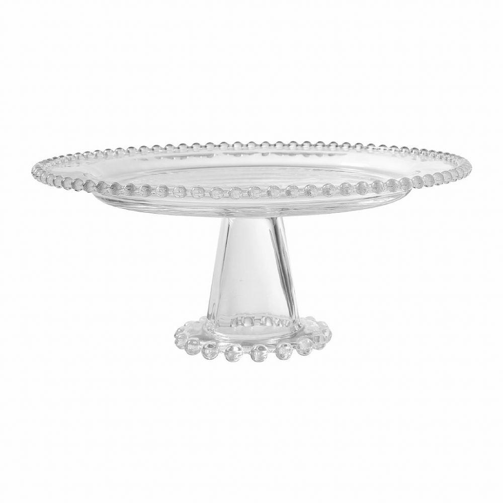 БЛЮДО НА НОЖКЕ STEMMED CAKE STAND PERLOA D31XH12CM GLASS COTE TABLE, АРТИКУЛ 32398