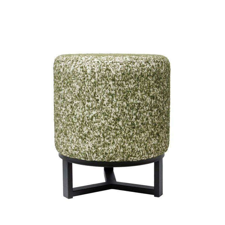FLYNN STOOL ON IRON STAND WITH SUPERSENSUAL FABRIC, АРТИКУЛ F4-T60/CAR51, DOME DECO