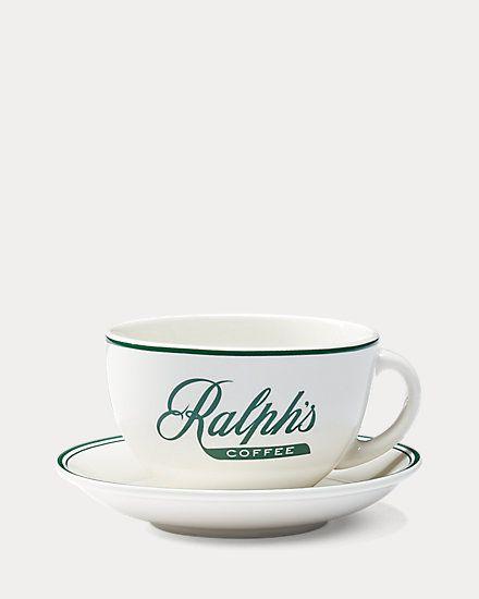 Чайная пара (чашка с блюдцем) RALPHS, 295 мл., Ralph Lauren